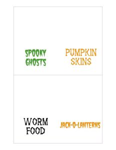 thumbnail of Halloween Food Labels 1