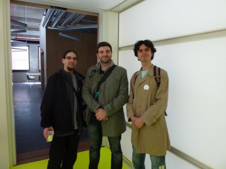 Timothée Giet, David Revoy, Konstantin Dmitriev (photo by Carlos López González)