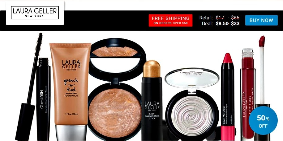 Laura Geller New York makeup seen on View Your Deal