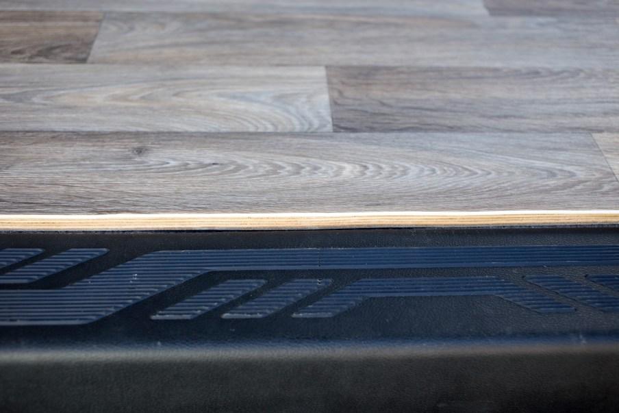 Close up of side entrance trim