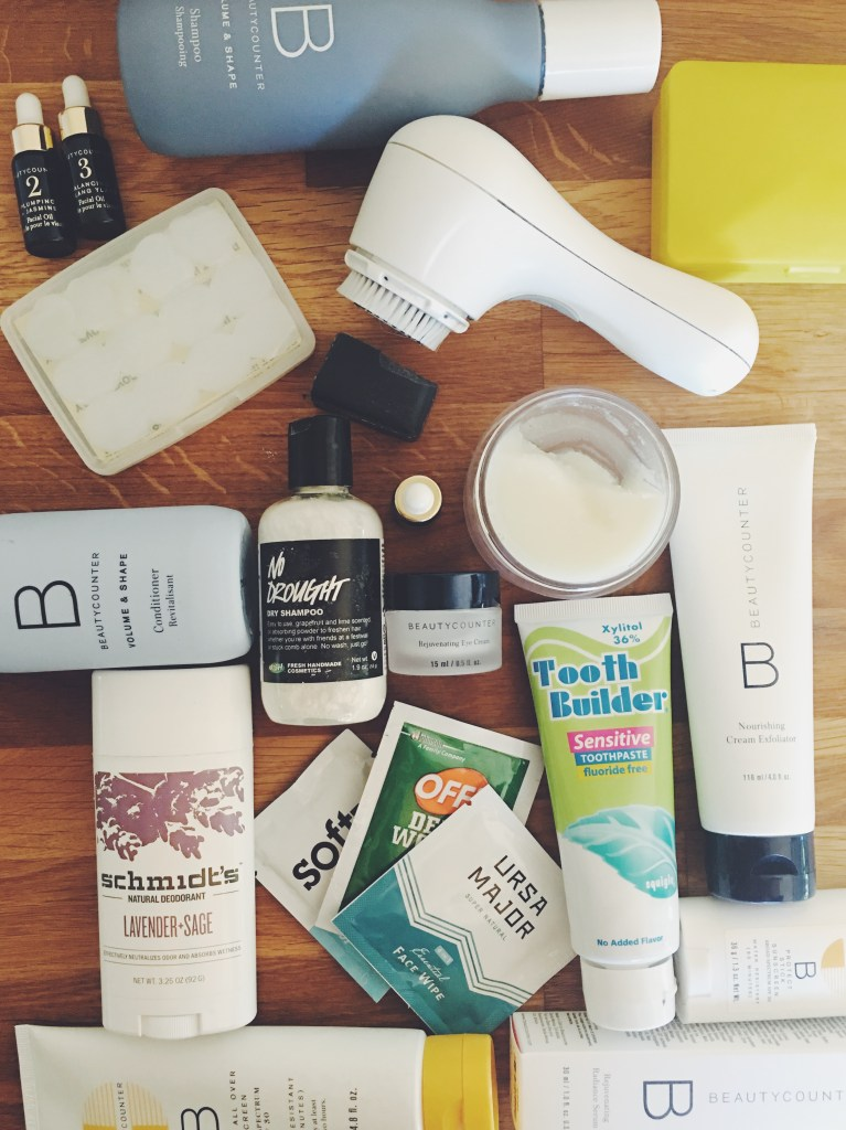 skincare used for vanlife