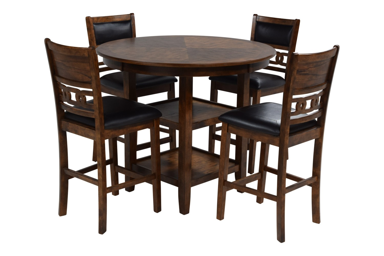 Gia Light Brown Counter-Height Table With 4 Stools