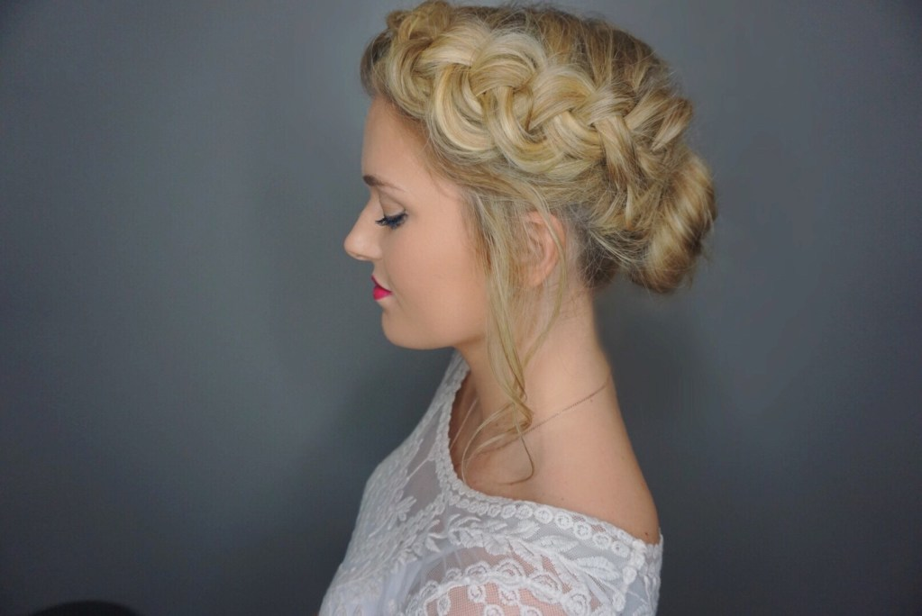 Romantic Braided Updo: You Must Try This