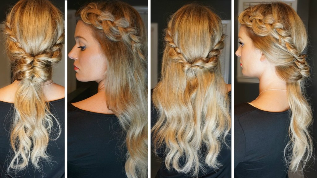 Crown Dutch Braid – Four Looks