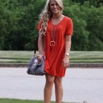 Your Newest Obsession: the Red T-Shirt Dress