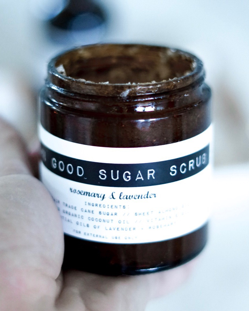 damn good sugar scrub rosemary and lavender - all natural skin care products