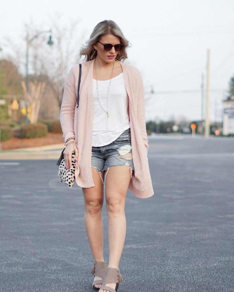 Perfectly Casual: Pink + White