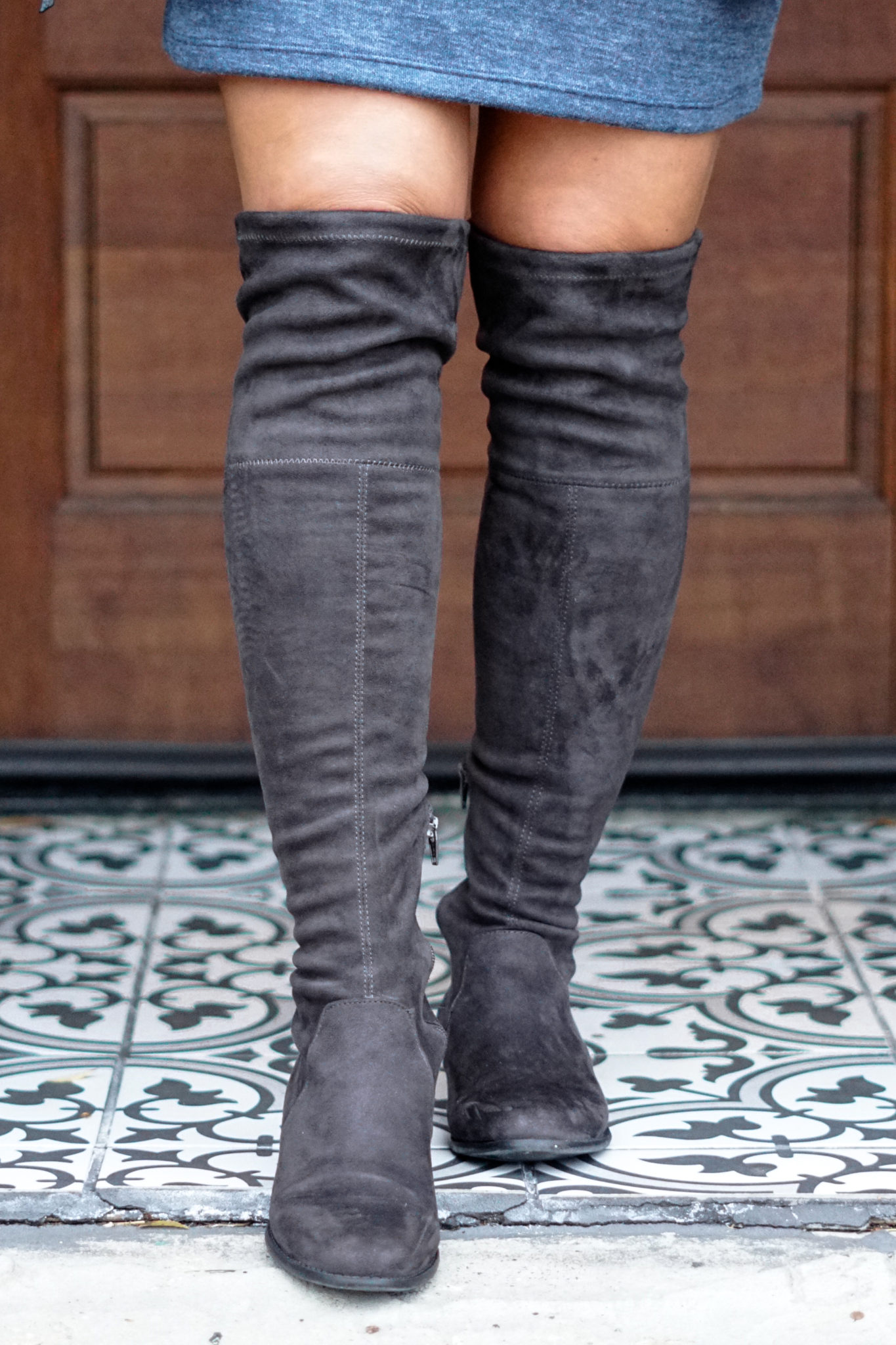 ab321fe331f6fc Sidney Over the Knee Boots – Gray  A New Day