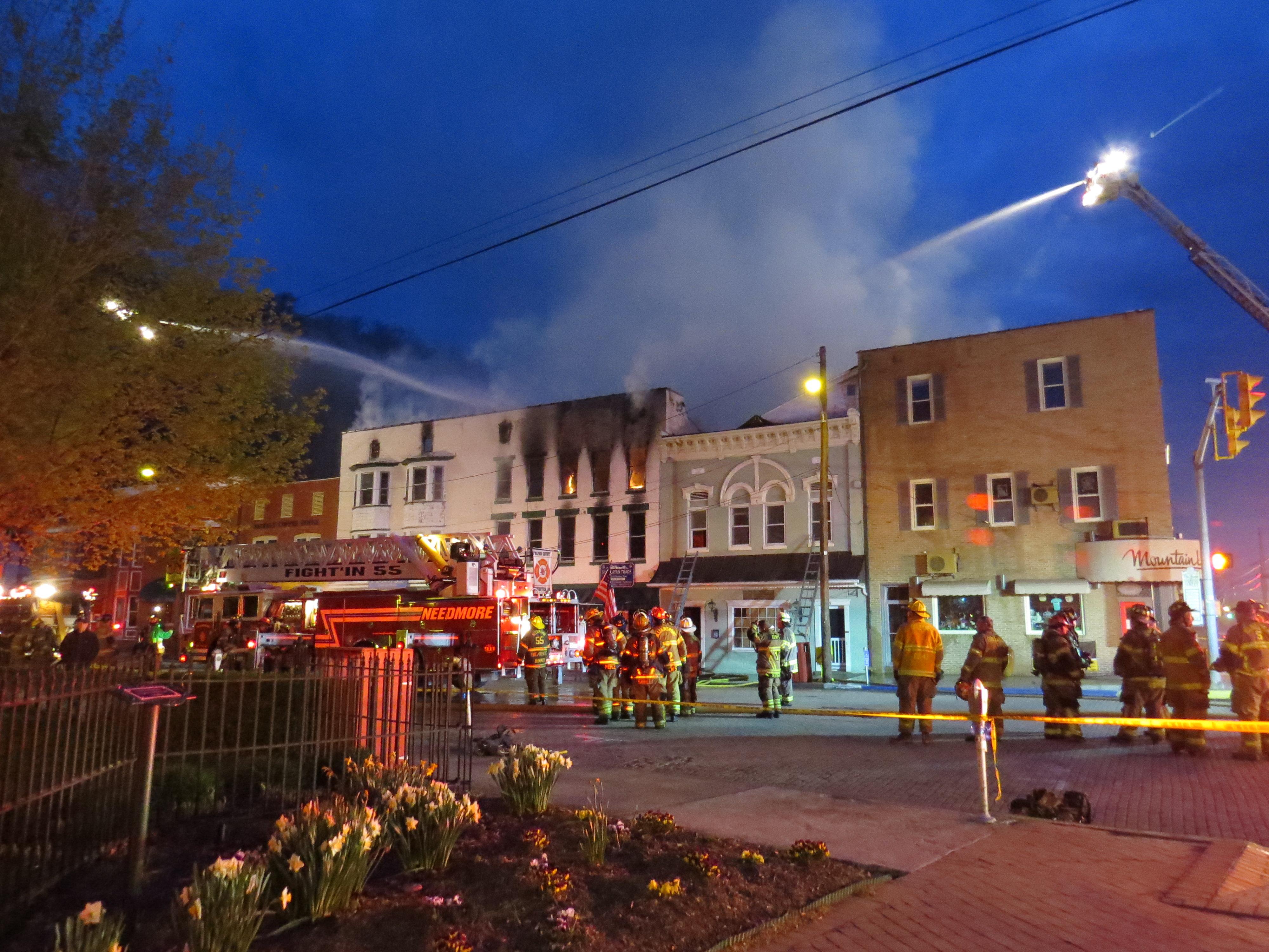 Berkeley Springs Fire Engulfs Fairfax Street Building