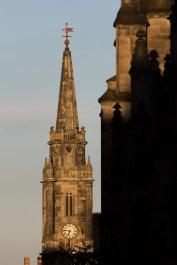 Le clocher de l'église reconvertie en Royal Mile Market