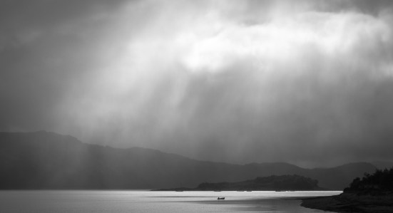 Ondée sur le Loch Carron
