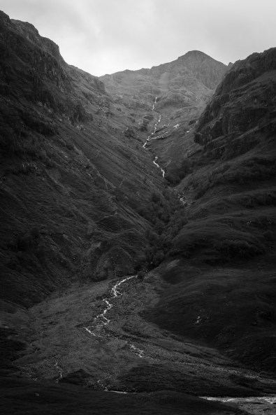 Torrent de montagne dans Glen Coe