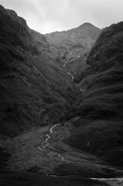 Torrent de montagne dans Glen Coe