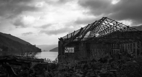 Ruine destroy près d'Arrochar
