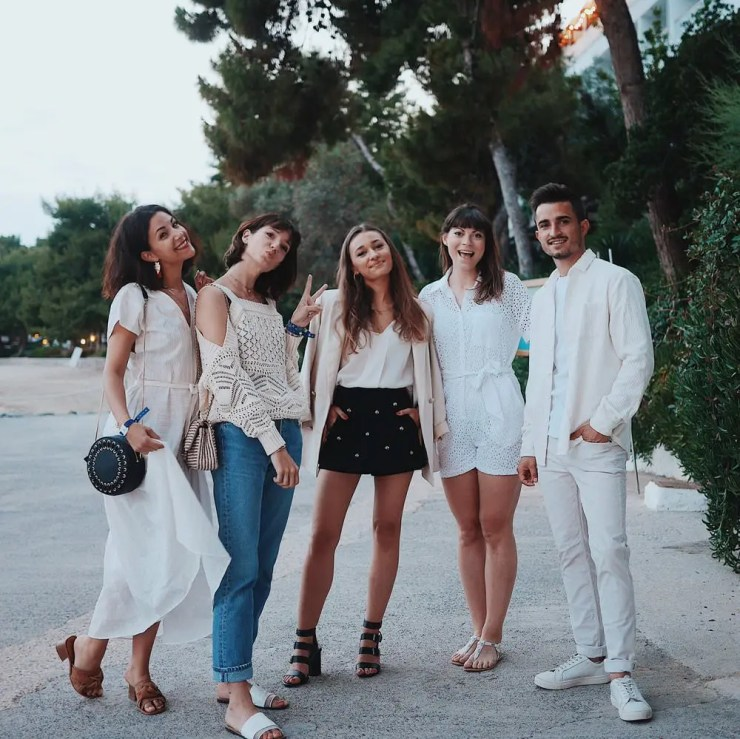 Avec Victoria, Laura, Amélie et Nicolas