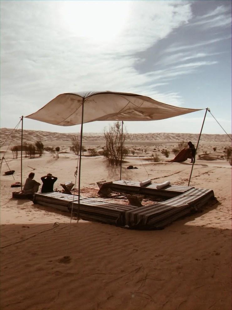 Camp Mars Tembain tunisie repas du midi