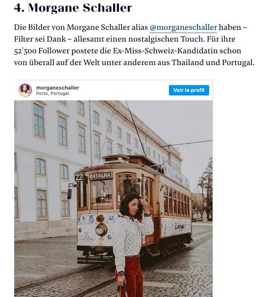 Swiss Influencer Award morgane schaller