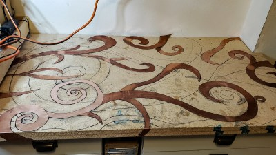 counter mosaic for studio