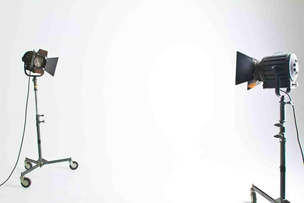 Video backdrop lighting setup