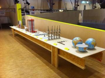 """Table des dispositif_Exposition """"Matière Grise"""". Photos_Mélody Garcia"""