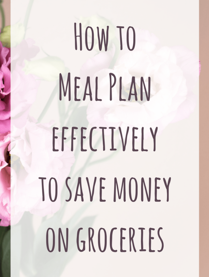 How Meal Planning effectively can save money on groceries