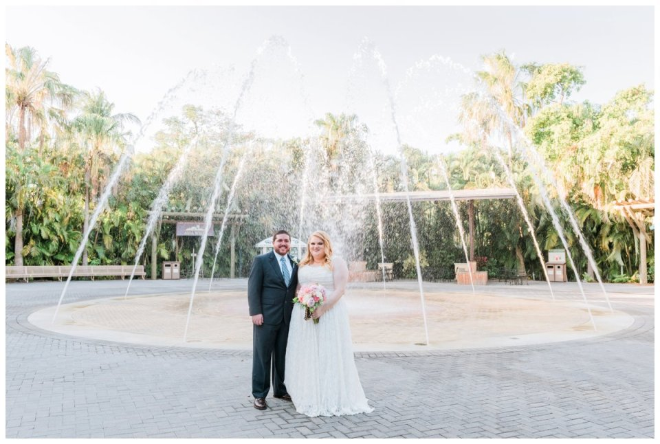 bride and groom portraits at palm beach zoo