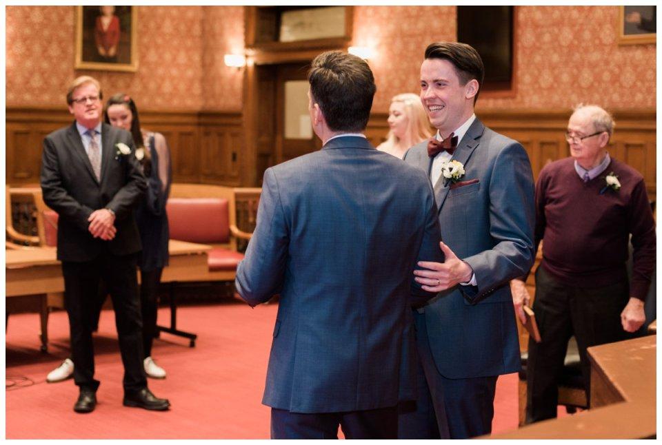 Boston city hall elopement wedding