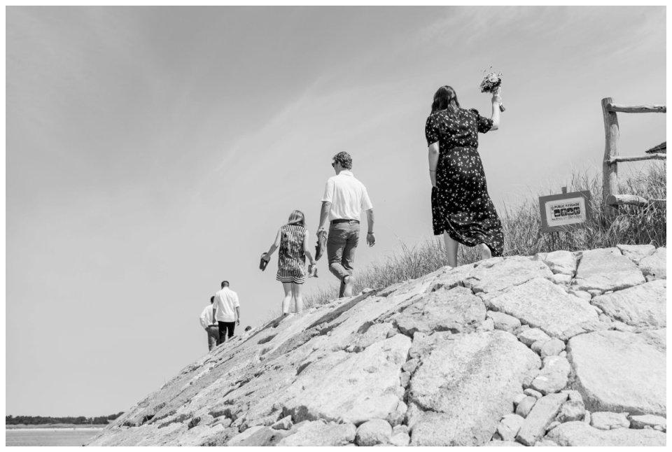 west falmouth beach wedding on cape cod