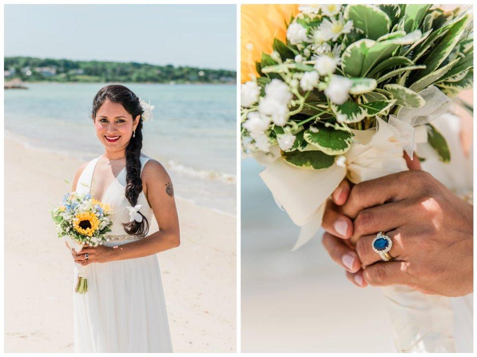 falmouth beach wedding portraits