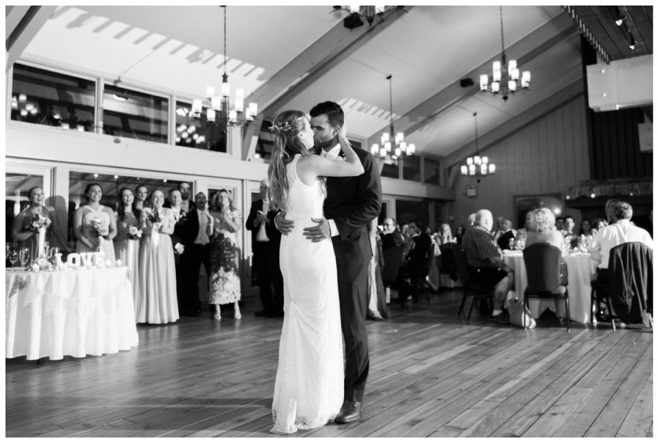 Warren Conference bride and groom first dance