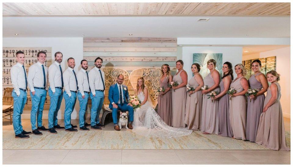 bridal party portraits at an islamorada wedding