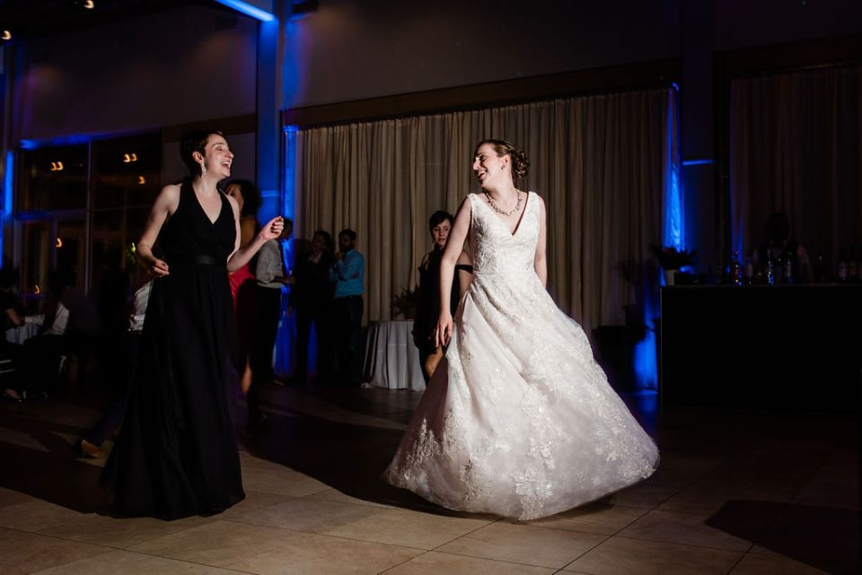 bride dancing at end of the night Lake Pavilion West Palm Beach