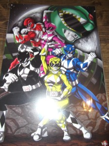 These past4 are mini posters I bought and they are all hand drawn by artists! Here are the Mighty Power Rangers!