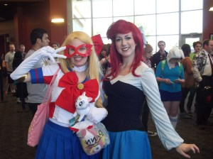 Me with our lovely guest cosplayer.