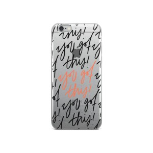 You Got This Transparent iPhone Case – Black and Pink