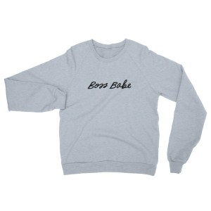 Boss Babe Unisex California Fleece Raglan Sweatshirt – Black Print