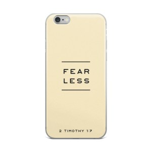 Fearless Light Yellow iPhone Case