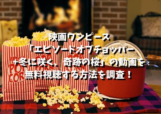 9映画ワンピース 「エピソードオブチョッパー+冬に咲く、奇跡の桜」の動画を無料視聴する方法を調査!