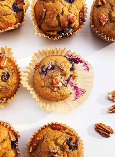 Nut-Free Collagen Blueberry Muffins