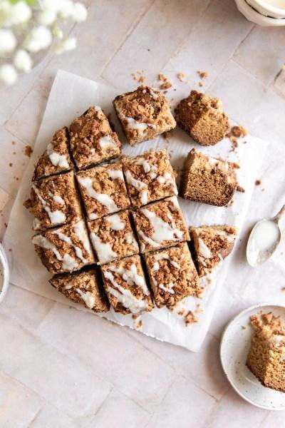 Tahini Crumb Cake {grain-free, naturally sweetened, paleo}