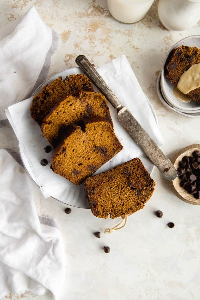 Healthy Tahini Pumpkin Bread (with Cassava Flour)