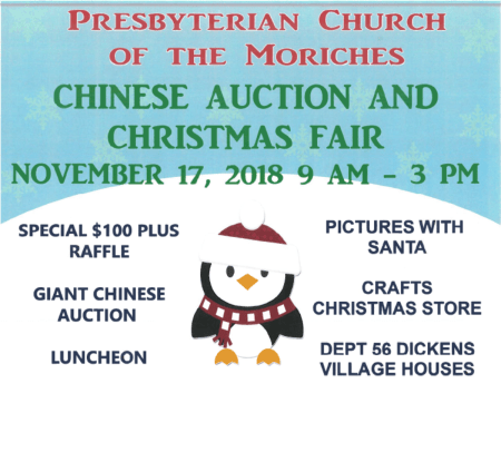 Presbyterian Church of the Moriches Chinese Auction and Christmas Fair