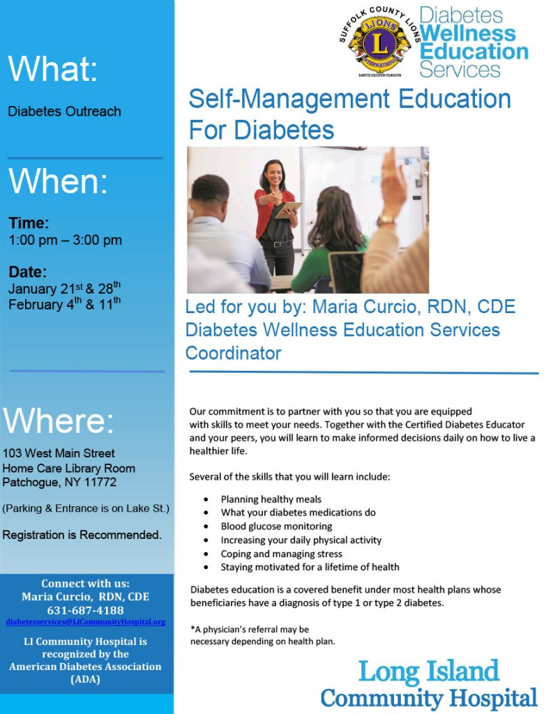Self-Management Education for Diabetes