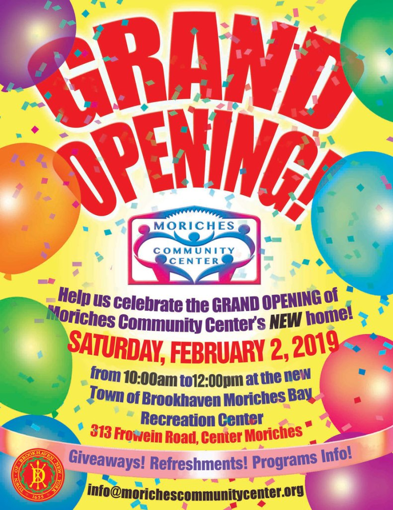 Moriches Community Center Grand Opening