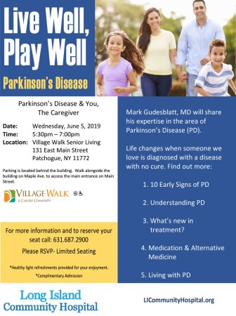 Parkinson's Disease & You, the Caregiver @ Village Walk Senior Living | Patchogue | New York | United States
