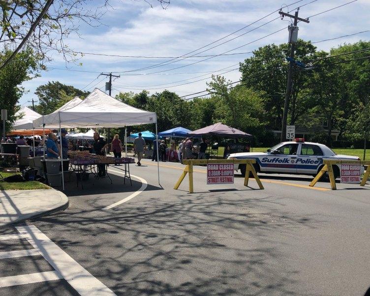 2019 Spring Fair - road closed