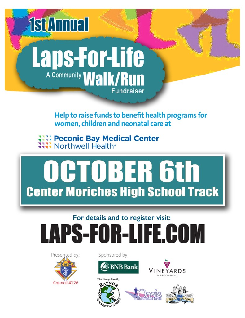 Laps-For-Life Fundraising Event Flyer