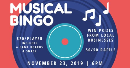 Musical Bingo Fundraiser for the Downtown Beautification Organization @ Moriches Recreation Center | Center Moriches | New York | United States