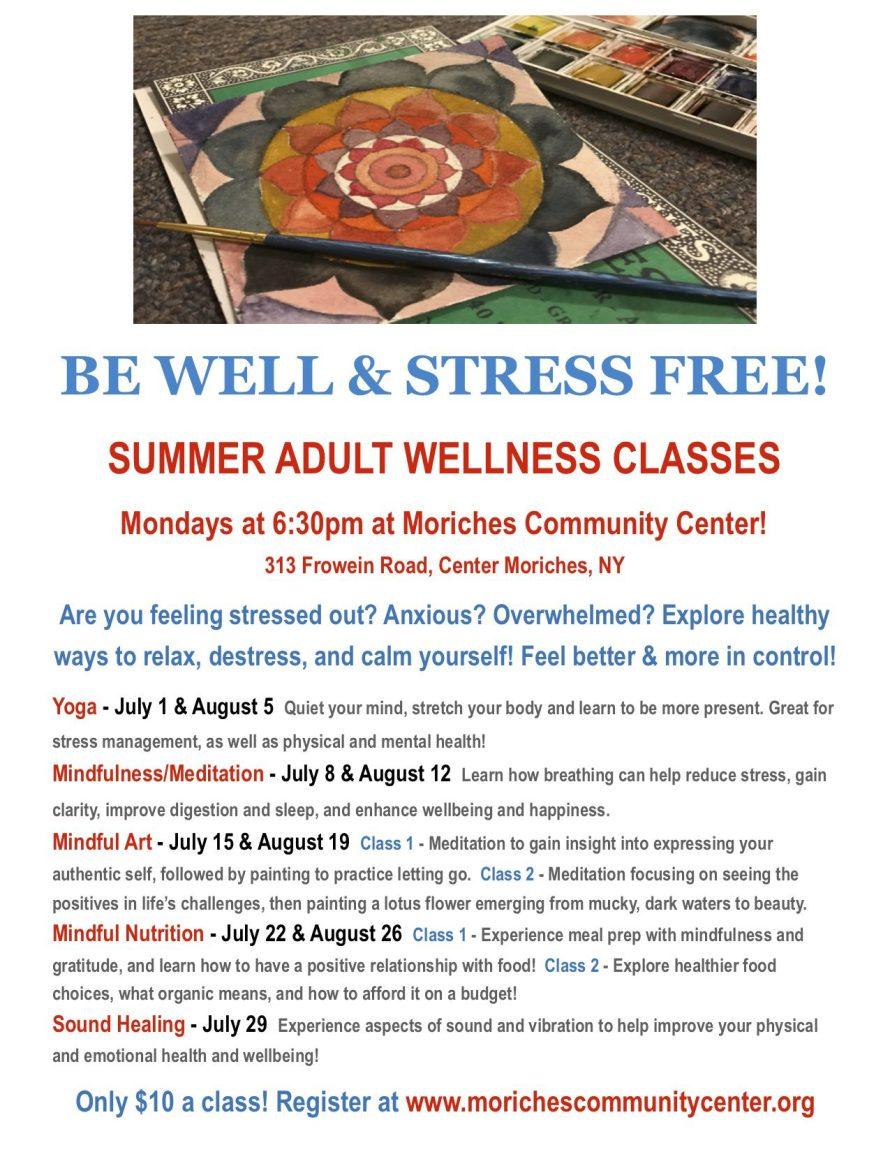 Adult Summer Wellness classes