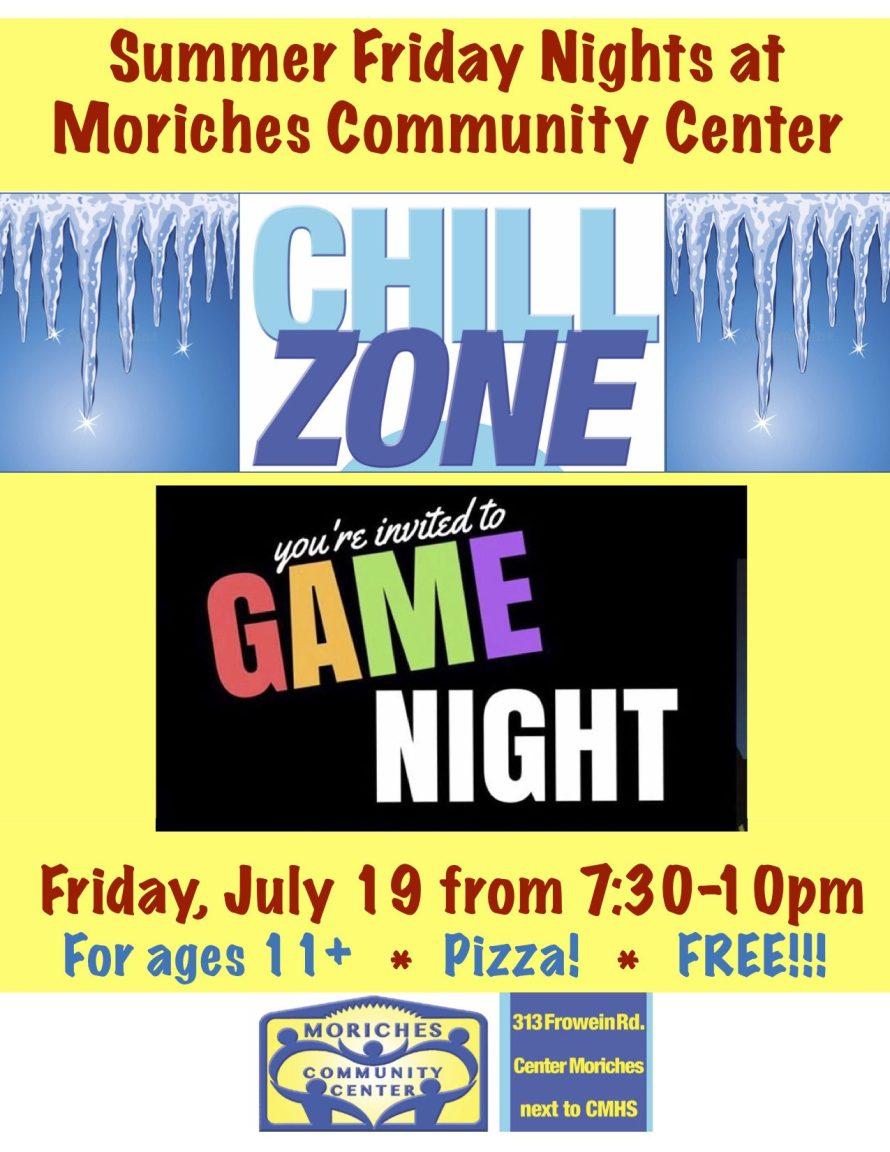 Summer Friday Nights Games flyer